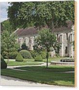 Abbey Fontenay Burgundy Wood Print
