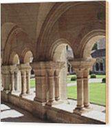 Abbey Fontenay - Cloister Vault  Wood Print