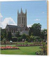 Abbey Gardens Wood Print