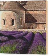 Abbey Lavender Wood Print