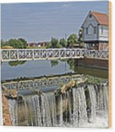 Abbey Mill And Weir Wood Print