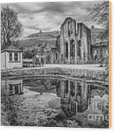 Abbey Reflections Wood Print
