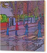 Abbey Road Crossing Wood Print