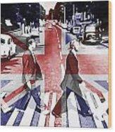 Abbey Road Union Jack Wood Print