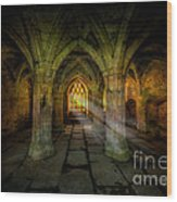 Abbey Sunlight Wood Print by Adrian Evans