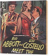 Abbott And Costello Meet The Invisible Man  Wood Print