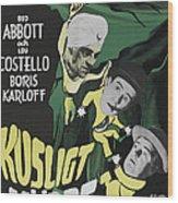Abbott And Costello Meet The Killer Wood Print
