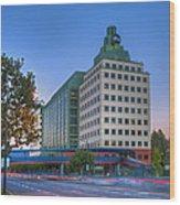 Abc American Broadcasting Company Burbank Ca Wood Print