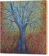 Abc Of Autumn Wood Print