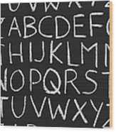 Abc On A Chalkboard Wood Print
