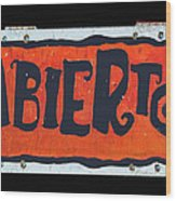 Abierto Wood Print