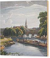 Abingdon Bridge And Church, Engraved Wood Print