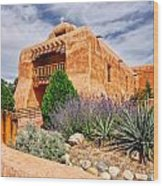 Abiquiu Mission Church Wood Print