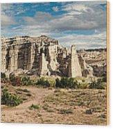 Abiquiu New Mexico Plaza Blanca In Technicolor Wood Print