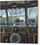 Aboard Friendship And Approaching The Boardwalk At Walt Disney World Wood Print