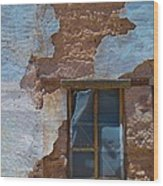 Abobe House Windows Wood Print