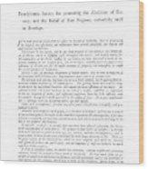 Abolition, 1789 Wood Print