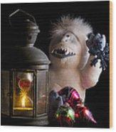 Abominable Christmas Wood Print