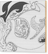 Aboriginal Wood Print