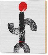 Aboriginal Figure Wood Print