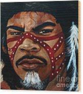 Aborigine Hunter Wood Print