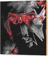About Face Abstract Portrait Wood Print