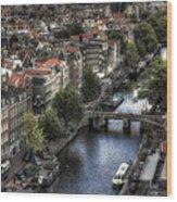 Above Amsterdam Wood Print