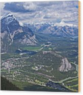Above Banff Wood Print