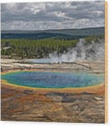 Above Grand Prismatic Wood Print