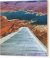 Above Lake Mead By Diana Sainz Wood Print
