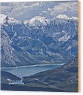 Above Lake Minnewanka #2 Wood Print