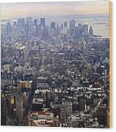 Above New York Wood Print