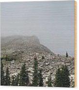 Above Scapegoat Camp Fog Wood Print