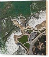 Above Steamer Lane Santa Cruz Wood Print by Randy Straka