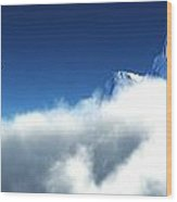 Above The Clouds... Wood Print