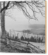 Above The Creek Wood Print