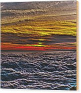 Above The Marine Layer V3 Wood Print