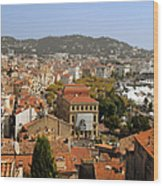 Above The Roofs Of Cannes Wood Print
