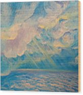 Above The Sun Splashed Clouds Wood Print