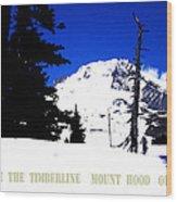 Above The Timberline  Mt Hood  Oregon Wood Print by Glenna McRae