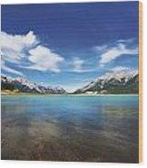 Abraham Lake Alberta Canada Wood Print