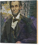 Abraham Lincoln 07 Wood Print by Corporate Art Task Force