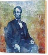 Abraham Lincoln 16th President Of The U.s.a. Wood Print
