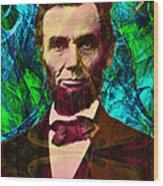 Abraham Lincoln 2014020502p145 Wood Print by Wingsdomain Art and Photography