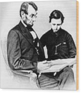 Abraham Lincoln And Tad Wood Print