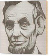 Abraham Lincoln Drawing Wood Print