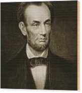 Abraham Lincoln Wood Print by Francis Bicknell Carpenter