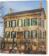 Abraham Lincoln Home In Springfield Illinois Wood Print