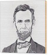 Abraham Lincoln Wood Print by Lou Knapp