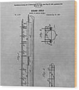 Abraham Lincoln Patent Drawing Wood Print